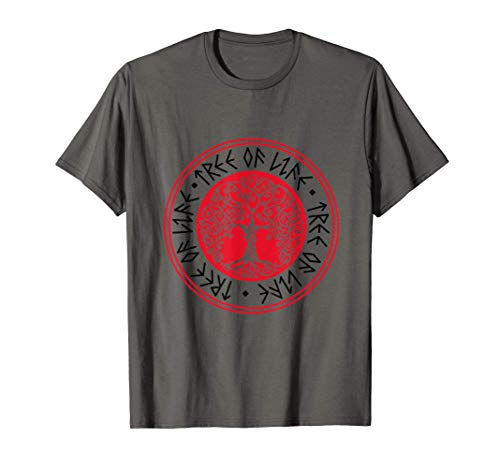 Árbol vikingo mitología nórdica Mjölnir Thor idea de regalo Camiseta