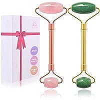 2-Pack ZS Zeshin Jade Facial & Rose Quartz Face Roller
