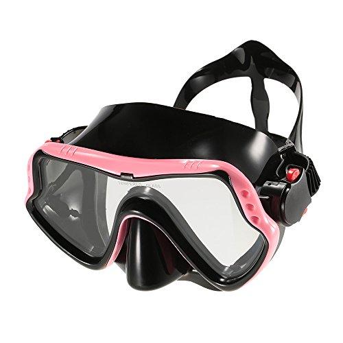 Protetor de esportes, Romacci Máscara antiembaçante UV400 feminina masculina máscara de mergulho Máscara de mergulho Máscara de mergulho para natação Óculos de proteção com lentes de vidro temperado e