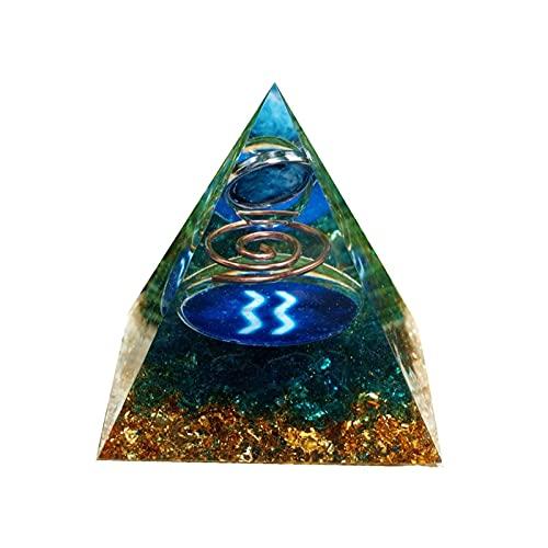 W.Z.H.H.H Cristal áspero Patrón de geometría de la Esfera del Planeta Organis Organis Orgone Hecha a Mano con la Piedra Preciosa de la Piedra Preciosa de Cuarzo Azul orgonita Cristales de curación