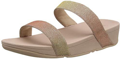 Fitflop Damen Lottie Glitzy Slide Sandalen, Mehrfarbig (Rose Gold 323), 42 EU