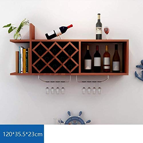 LXAGM Estante For Vino De Montaje En Pared - Estante For Vino De Decoración - Soporte For Copa De Vino De Vidrio - Barra De Cocina For El Hogar - Pared For El Hogar De La Barra (Color : C)