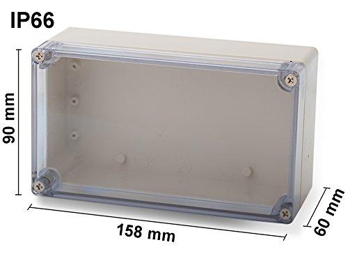 ABS Leergehäuse Transparent 158x90x60mm Industriegehäuse IP66 Kunststoff Gehäuse
