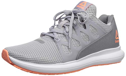 Reebok Women's Driftium Ride 2.0 Running Shoe, Grey/Sunglow/White, 8 M US