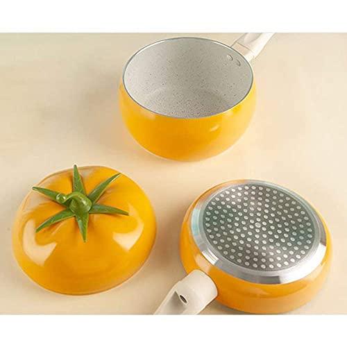 Fruta Tomate Forma Sartén Wok Olla de Cocina Cacerola Cocina de Inducción Luminum Utensilios de Cocina antiadherente Suministros de Cocina para el Hogar Envío Gratis SpongeB