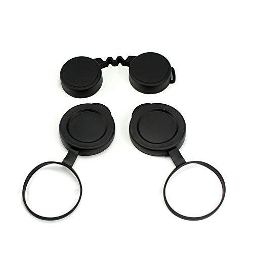 HAMISS - Prismáticos Profesionales de 10 x 42, Tapas de Objetivo de Goma Protectora, Protector Ocular para prismáticos compactos, Mejor protección, 3 Unidades