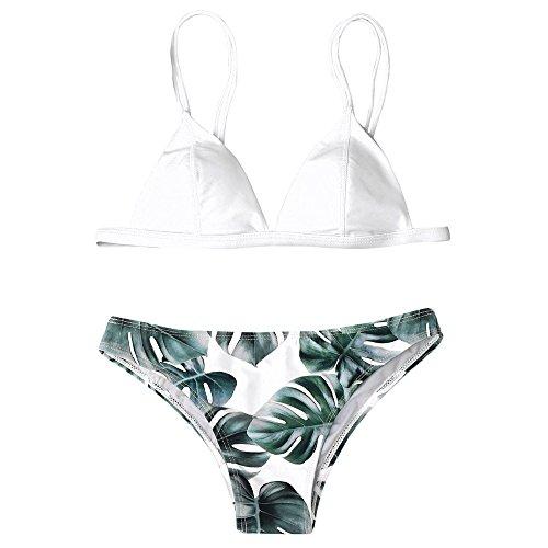 Mode Maillots de Bain Femme 2 Pieces,Yesmile Femmes Hight Taille Imprim/é Bikini Ensemble Push-Up Rembourr/é Maillot de Bain
