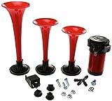 HELLA Triple Trumpet Horn Kit, 12V