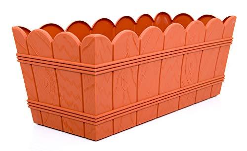POKM Toolsmarket GmbH Jardinière de Balcon sans Soucoupe Terracotta 40 cm