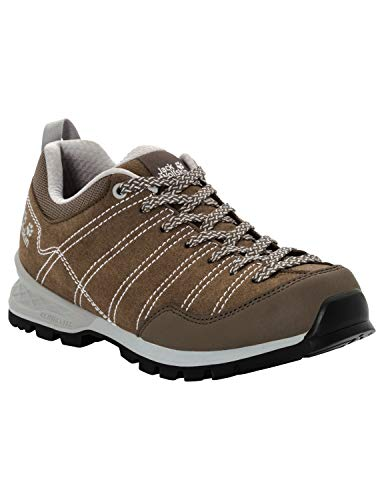 Jack Wolfskin Damen Scrambler Low W Trekking- & Wanderhalbschuhe, Braun (Coconut Brown/Light Grey 5208), 37 EU