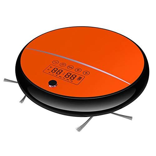 BABY-WZL Robot Aspirador, Identificación Inteligente Reserva anticolisión Reserva de Piso Duro y Alfombra,Naranja