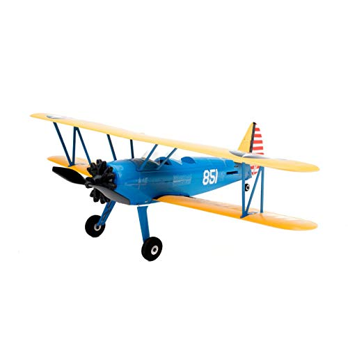 E-flite EFLU3080 UMX PT-17 BNF (Sender Nicht enthalten) RC Flugzeug mit AS3X | 150 mAh 3,7 V 25 C LiPo-Akku | USB 1S Ladegerät