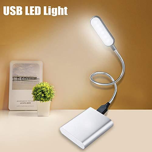 1 x flexible Mini-USB-LED, Mini-USB-LED-Lampe, USB-Licht für Laptop, Leselampe, USB-betriebene LED-Lampe, tragbares USB-Laptop-Licht, schwarz.