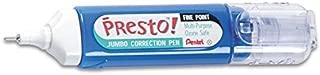 Pentel Presto Jumbo Correction Pen, Fine Point, 12 ml, 6 Packs