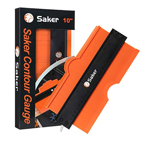 Saker Contour Gauge (10 Inch Lock) Profile Tool- Adjustable Lock-Precisely Copy Irregular Shape Duplicator -Irregular Welding Woodworking Tracing - Must Have Tool for DIY Handyman, Construction