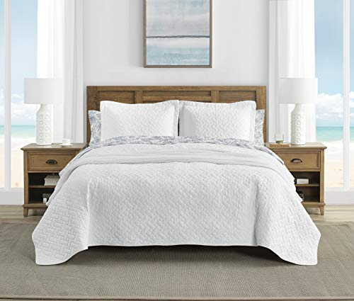Tommy Bahama White Chevron Quilt Set