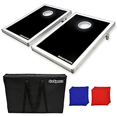 GoSports LED Light Up Cornhole Set, Tailgate Size