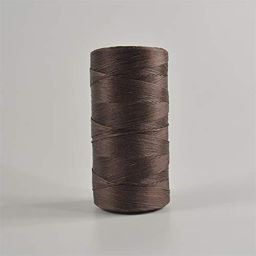 Szaerfa Costura de hilo encerado 260m de cuero 1MM para cincel Awl zapatos conjunto de equipaje (Café léger)