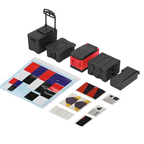 RC bil verktygsskåp RC bil verktygslåda plast RC bil dekorationslåda för att dekorera din egen bil för att placera på baksidan av fjärrkontrollen pickup truck (svart)