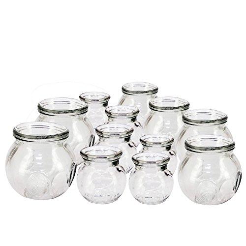 Royal Massage 12 Piece Fire Glass Cupping Jar Set
