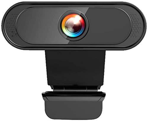 Cámara web USB HD1080P, cámara web de escritorio para computadora portátil PC / Mac, videoconferencia, aprendizaje electrónico, transmisión, videollamada y cámara de grabación, micrófono incorporado
