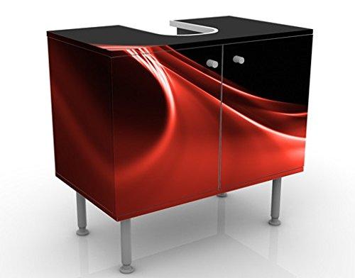 Apalis Waschbeckenunterschrank Red Wave 60x55x35cm Design Waschtisch, Größe:55cm x 60cm