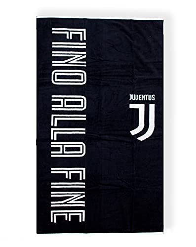 Juventus Telo Mare Bambini Bianco Nero | Telo Mare Juventus Ufficiale 70x135 cm | Telo Juve in Cotone | Ottima idea regalo, Fantasia #Finoallafine