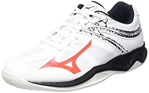Mizuno Thunder Blade 2, Zapatillas de vóleibol Hombre, Saludo Blanco Encendido, 42.5 EU