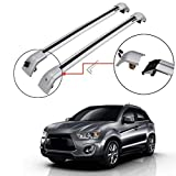 Titopena Roof Rack Cross Bars fit for Mitsubishi Outlander Sport 2010-2021 Aluminum Cross Bar Replacement for Rooftop Cargo Carrier Bag Luggage Kayak Canoe Bike Snowboard Skiboard