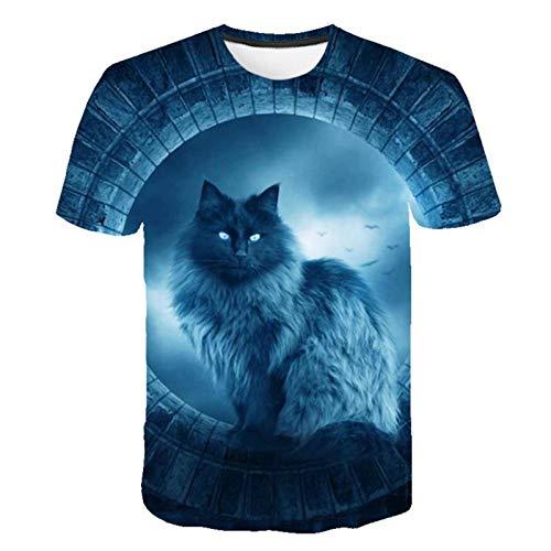 Coole Mode T-Shirt für Männer und Frauen Zwei Katzen drucken 3D T-Shirt Sommer Kurzarm T-Shirts Männliche T-Shirts Xxs-6xl