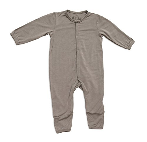 KYTE BABY Unisex Soft Bamboo Rayon Rompers, Snap Closure (3-6 Months, Clay)