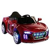 Brunte Big Sedan Kids Battery Operated Rideon Car Red