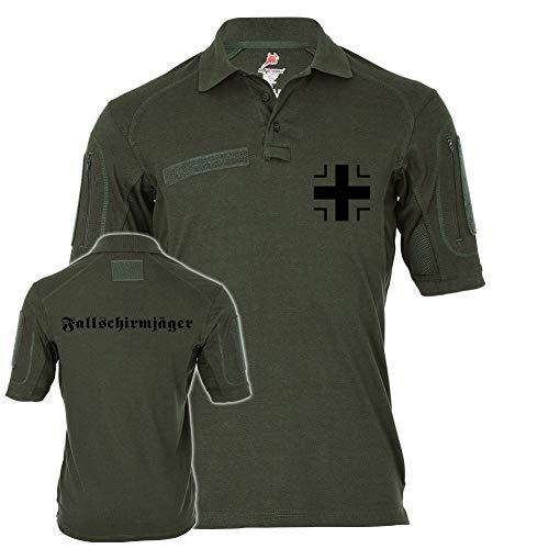 Copytec Tactical Poloshirt Alfa - Fallschirmjäger Balkenkreuz BW Heer Falli #19457, Größe:L, Farbe:Oliv