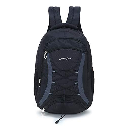 Northzone 15.6 inch 30 L Casual Waterproof Laptop Backpack/Office Bag/School Bag/College Bag/Business Bag/Unisex Travel Backpack (Black)
