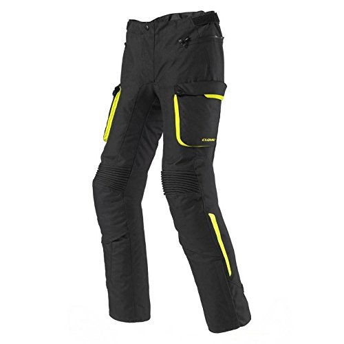 Clover scout-2Pant.Tess.Impermeable, Negro/Amarillo, talla 52