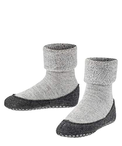 FALKE Unisex Kinder Cosyshoe Hausschuh Socken, Grau (Light Grey 3400), 37 38 EU