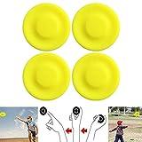 Henji Mini-Scheibe, 4 Teile, Frisbee, Silikon, fliegende Scheibe für Spiele für Erwachsene und Kinder, Sportspielzeug für Strand im Freien