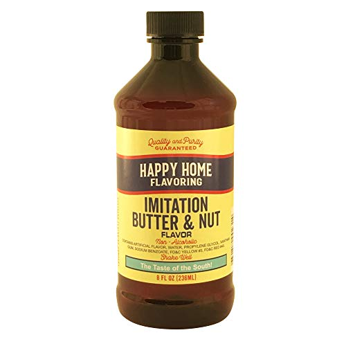Happy Home Imitation Butter & Nut Flavoring, Non-Alcoholic, Certified Kosher, 8 oz.