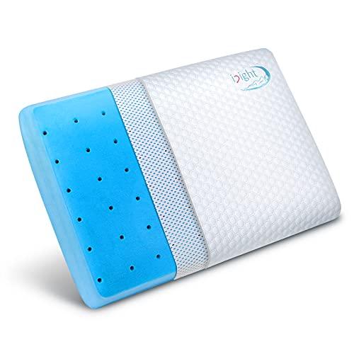 inight Cooling Pillows for Sleeping, Ventilated Gel Memory Foam Pillow, Cooling Bamboo Pillow Standard Size, Pillow Back Sleeper & Pillow Side Sleeper, Oeko-TEX & CertiPUR-US
