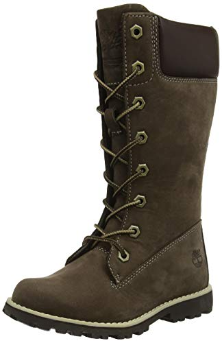 Timberland Timberland Asphalt Trail FTK_Classic Tall Lace Up with Side Zip Mädchen Combat Boots, Braun, 33 EU