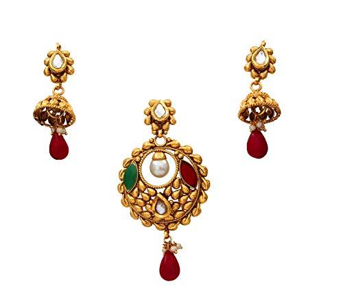 SURYAGEMS cobre chapado en oro Multi Verde-Rojo-Onyx