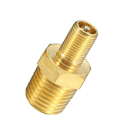Replacement Part for M.C 1/4 Inch NPT Air Compressor Tank Fill Valve Solid Nickel Plated Brass Replace for Pressure Piping