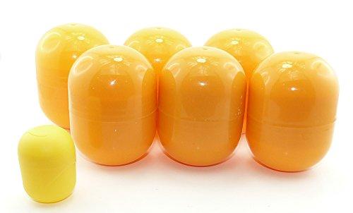 Kinder Überraschung, 6 capsule vuote mini Maxi Ei in arancione