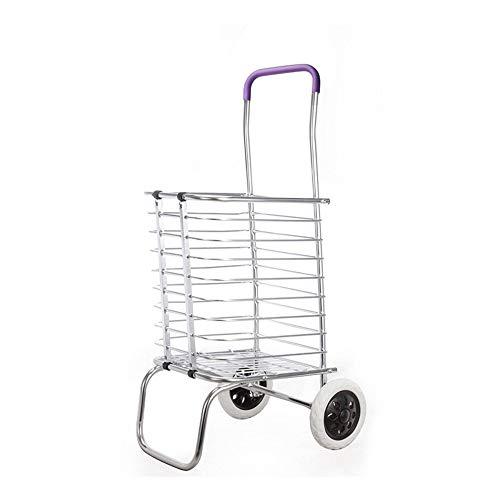 WH-IOE Carrito De La Compra Plegable 2/8 Equipaje Plegable De Aluminio De La Carretilla De Los Carros De La Compra De Las Ruedas para El Carro del Hogar Carro De Supermercado