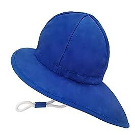 Dream Bridge Bob Chapeau de Soleil Plage Bébé Fille Garçons UPF50+ Anti-UV Bonnet avec Mentonnière Réglable Casquette d…