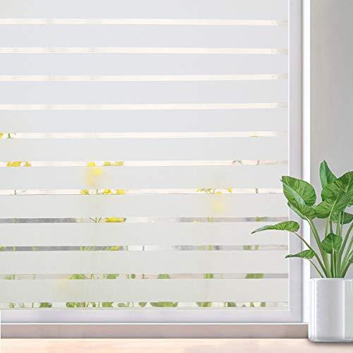 Lifetree Fensterfolie Streifenfolie Dekofolie Sichtschutzfolie Funkeln Selbstklebend ohne Klebstoff Statisch Folie Büro und Zuhause 44.5 * 200CM