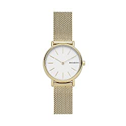 Skagen Signatur Two-Hand Stainless Steel 30mm Minimalist Watch - Cute small watch for small wrist lady