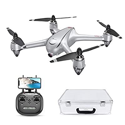 Potensic GPS Drone with 2K HD Camera, D80 FPV RC Drone for Adults, Brushless Motor Drone -20 Minutes Flying Time, GPS Smart Return Home, Follow Me, Altitude Hold, 25Mph High Speed, With Aluminum Case