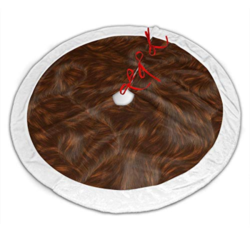 Beautiful Brown Fur Texture Fashion Christmas Tree Skirt Holiday Party Christmas Tree Skirt 36 in