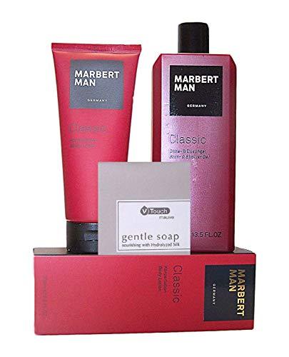 MARBERT GERMANY MAN CLASSIC Pflegeset: Bade- und Duschgel 400 ml + Körperlotion 200 ml